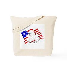 Poodle USA Tote Bag
