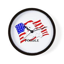 Poodle USA Wall Clock