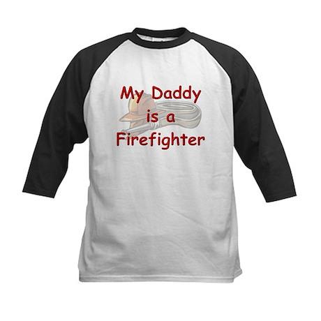 My Daddy is a Firefighter Kids Baseball Jersey