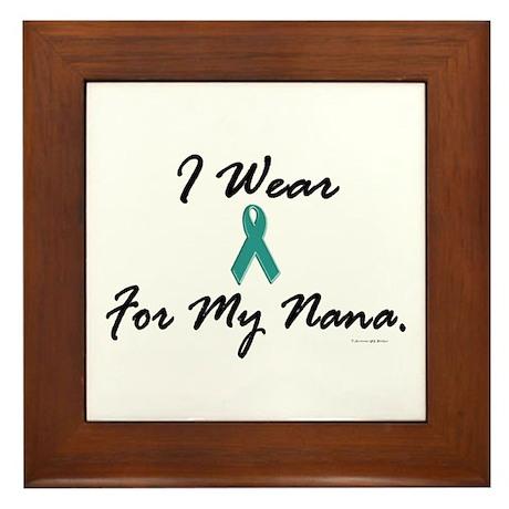I Wear Teal For My Nana 1 Framed Tile