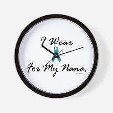 I Wear Teal For My Nana 1 Wall Clock