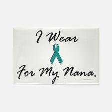 I Wear Teal For My Nana 1 Rectangle Magnet