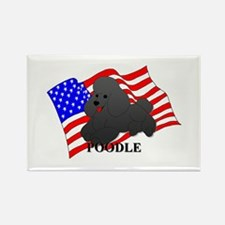 Poodle USA Rectangle Magnet