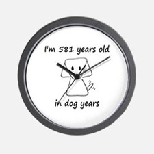 83 dog years 6 - 2 Wall Clock