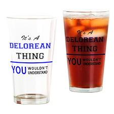 Unique Delorean Drinking Glass