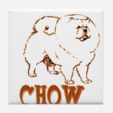 Funny Chows Tile Coaster