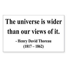 Henry David Thoreau 31 Rectangle Decal