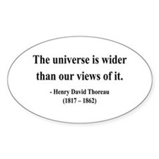 Henry David Thoreau 31 Oval Decal