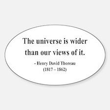 Henry David Thoreau 31 Oval Decal