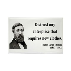 Henry David Thoreau 32 Rectangle Magnet