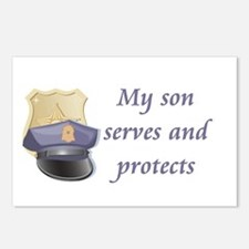 My son serves and protects Postcards (Package of 8
