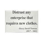 Henry David Thoreau 32 Rectangle Magnet (100 pack)