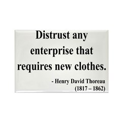 Henry David Thoreau 32 Rectangle Magnet (10 pack)