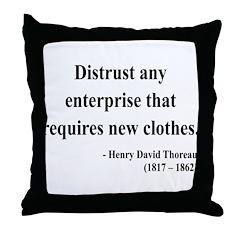 Henry David Thoreau 32 Throw Pillow