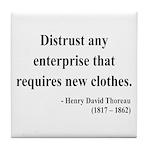 Henry David Thoreau 32 Tile Coaster