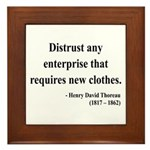 Henry David Thoreau 32 Framed Tile