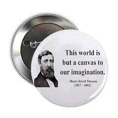 "Henry David Thoreau 3 2.25"" Button"