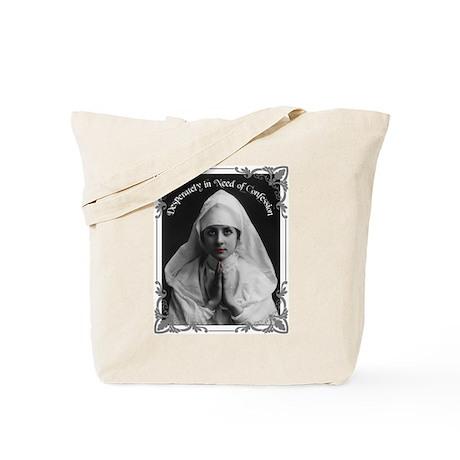 """Nun Confession"" Tote Bag"
