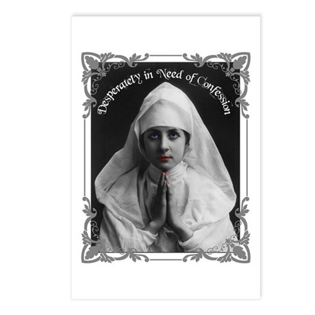 """Nun Confession"" Postcards (Package of 8)"