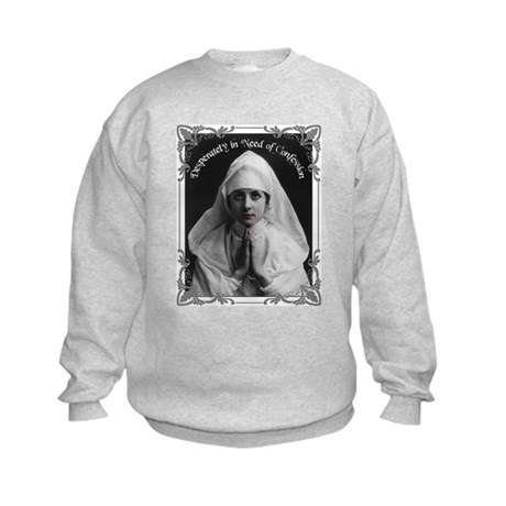 """Nun Confession"" Kids Sweatshirt"