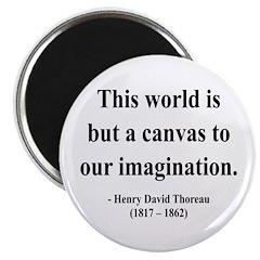 "Henry David Thoreau 3 2.25"" Magnet (100 pack)"