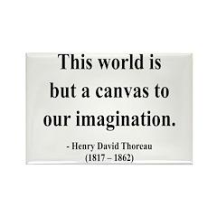 Henry David Thoreau 3 Rectangle Magnet (100 pack)