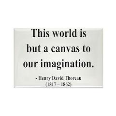 Henry David Thoreau 3 Rectangle Magnet