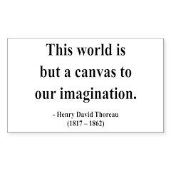 Henry David Thoreau 3 Rectangle Decal