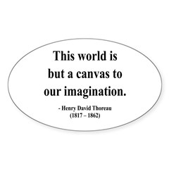 Henry David Thoreau 3 Oval Decal