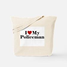 I Love My Policeman Tote Bag