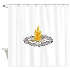 CAMPFIRE Shower Curtain