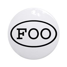FOO Oval Ornament (Round)