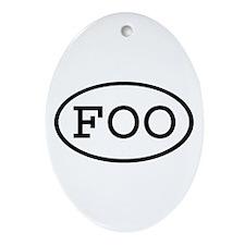 FOO Oval Oval Ornament