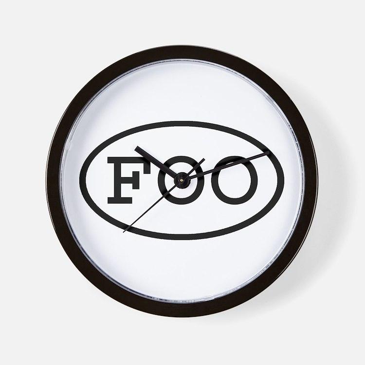 FOO Oval Wall Clock