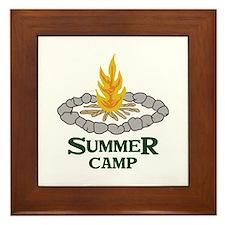 SUMMER CAMP Framed Tile