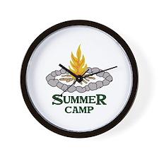 SUMMER CAMP Wall Clock