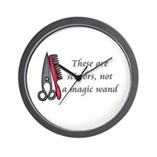 Scissors not a magic wand Wall Clock