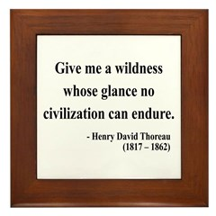 Henry David Thoreau 4 Framed Tile