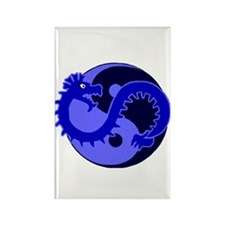 Yin Yang Protector 2 Rectangle Magnet