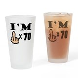 70th middle finger Pint Glasses