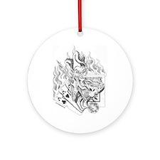 Jokers Wild Tattoo Ornament (Round)