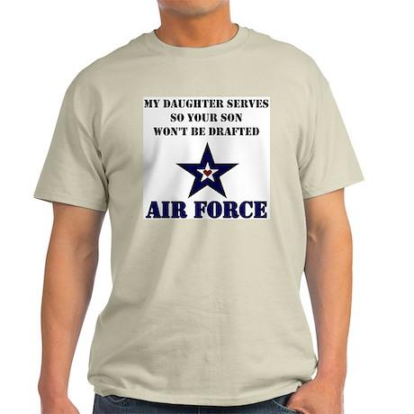 My Daugher Serves - Air Force Light T-Shirt
