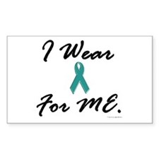 I Wear Teal For Me 1 Rectangle Decal