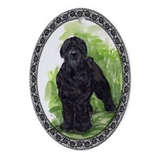 Black Russian Terrier Oval Ornament