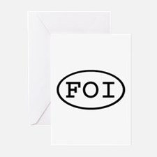 FOI Oval Greeting Cards (Pk of 10)