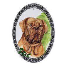 Dogue de Bordeaux Oval Ornament