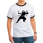 Cyborg Pirate Ninja Jesus Ringer T