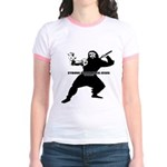 Cyborg Pirate Ninja Jesus Jr. Ringer T-Shirt