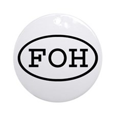 FOH Oval Ornament (Round)