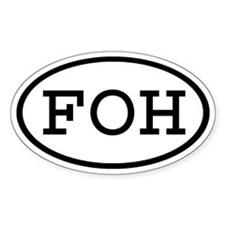 FOH Oval Oval Decal